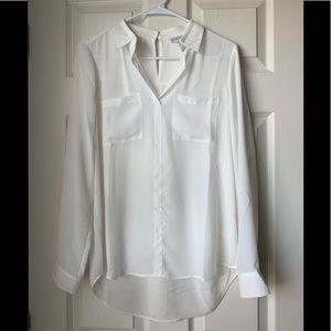NWOT- Charming Charlie white blouse